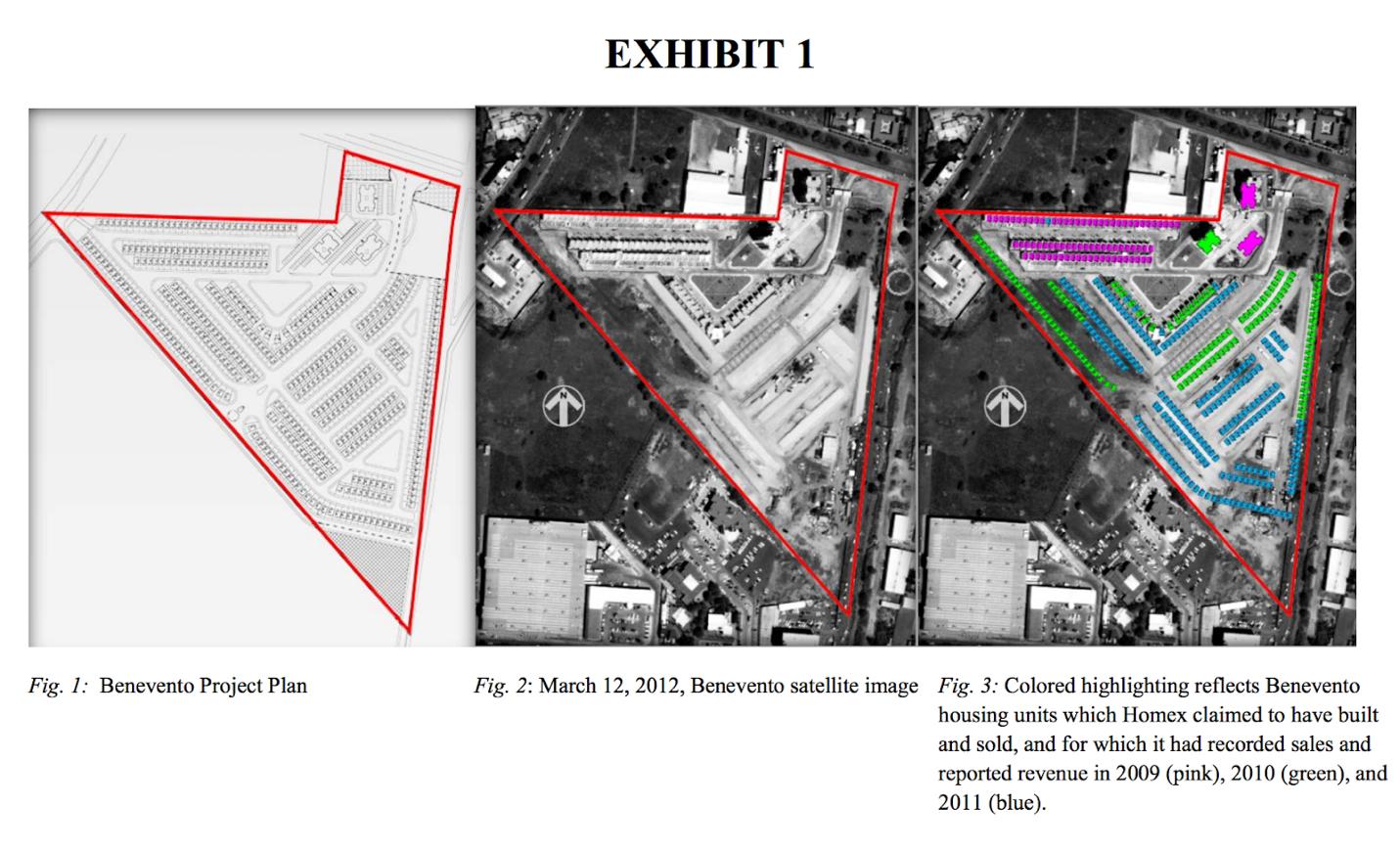 En su investigación, la SEC, máxima autoridad del mercado financiero de EUA, usó fotos satelitales, para demostrar que Homex en realidad no había construido viviendas que meses atrás había reportado al mercado como vendidas.
