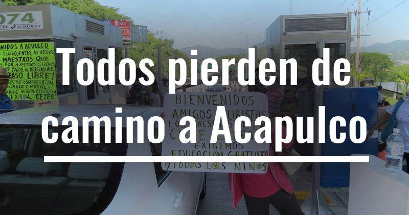 Todos pierden de camino a Acapulco