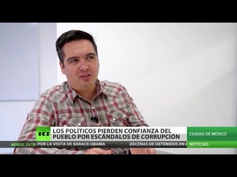 Políticos mexicanos pierden confianza del pueblo por corrupción