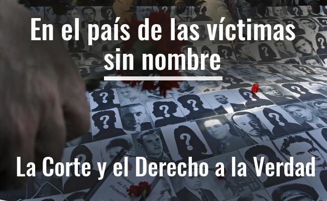 En el país de las víctimas sin nombre