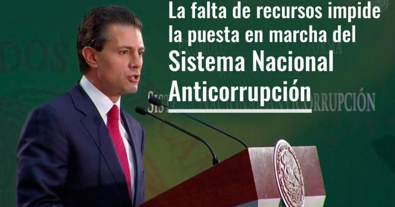 La falta de recursos impide la puesta en marcha del Sistema Nacional Anticorrupción
