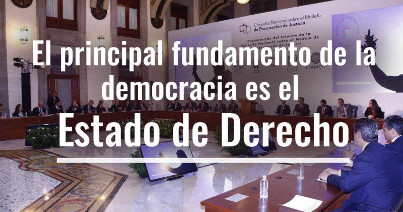 El principal fundamento de la democracia es el Estado de Derecho: María Amparo Casar
