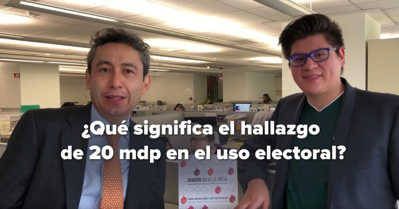 ¿Qué significa que el hallazgo de 20 mdp en el uso electoral?