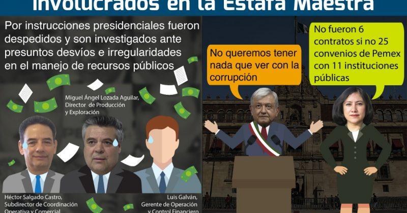 Cesan a 3 funcionarios de Pemex involucrados en La Estafa Maestra