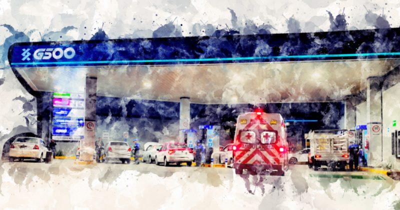 ¿En dónde cargan gasolina las ambulancias de la Cruz Roja?