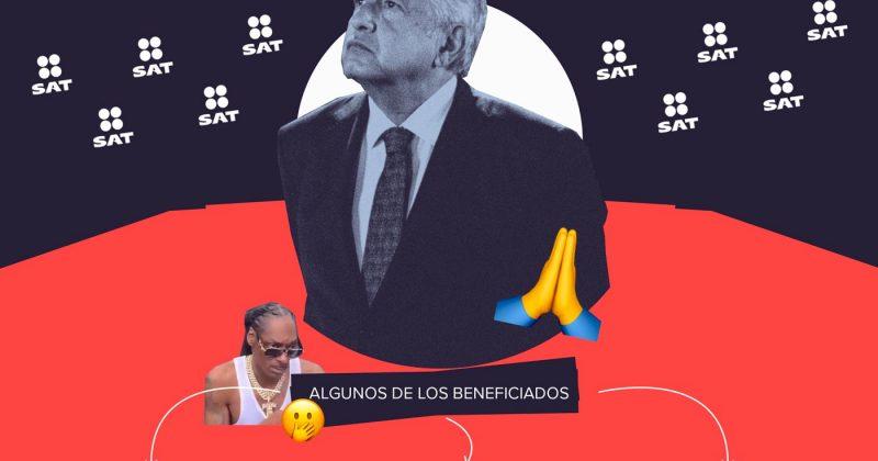 El SAT de AMLO cancela deuda a narco