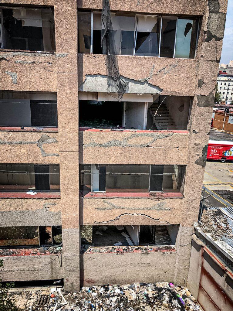 vista edificio sismo xocongo 2